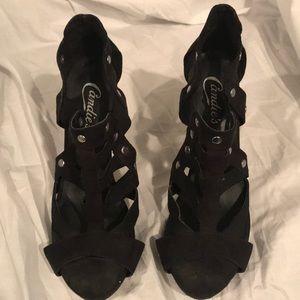 Candies ladies black high heels 4 inch